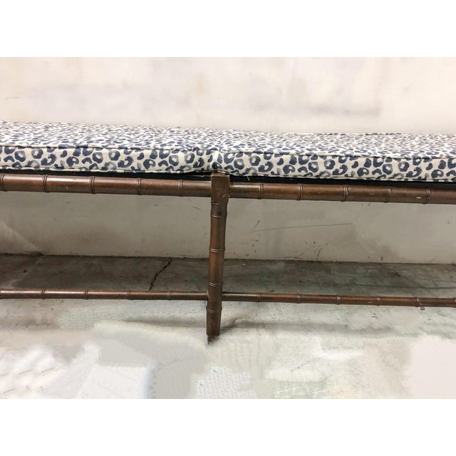 Extra Long Faux Bamboo Bench - Image 2 of 6