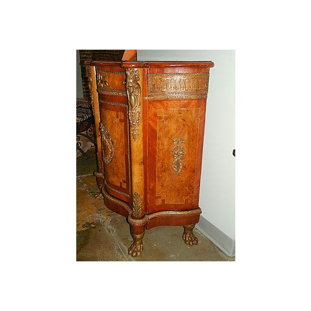 Antique Inlaid French Empire Revival Cabinet - Image 6 of 8