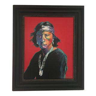 Contemporary Portrait Painting of a Native American
