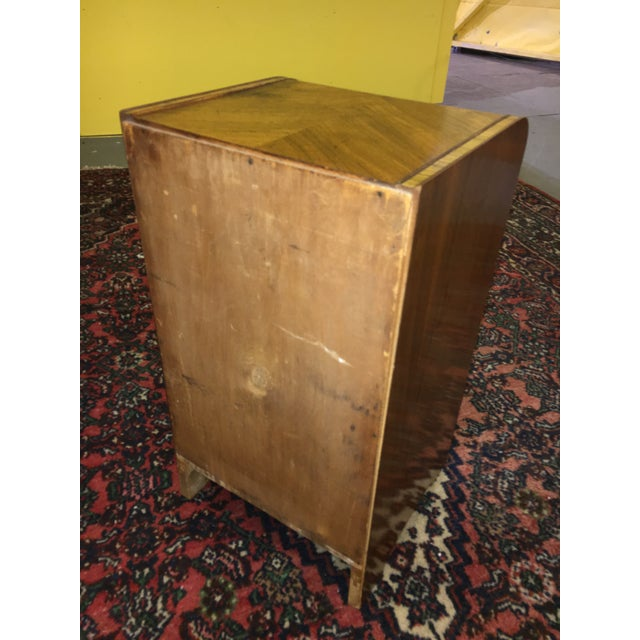 Antique Art Deco Waterfall Style Nightstand - Image 9 of 9