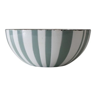 "Cathrineholm Norway 8"" Zebra Bowl Aqua White Stripe"