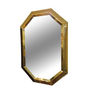 Vintage Brass Octagon Mirror
