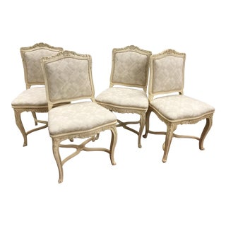 French Cream Chairs - Set of 4