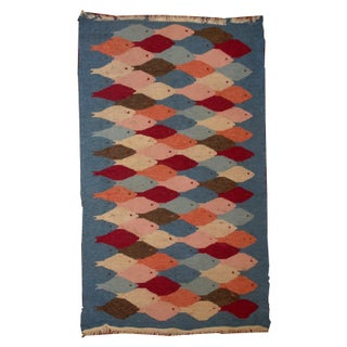 1930s Handmade Antique Swedish Kilim - 3' X 5'