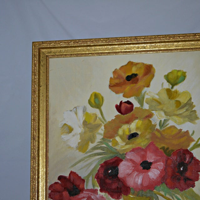 Original Floral Still Life Painting on Canvas - Image 3 of 7
