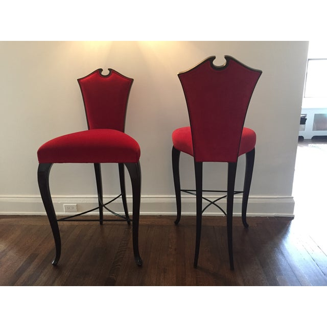 Christopher Guy Arch Bar Stools- A Pair - Image 2 of 3