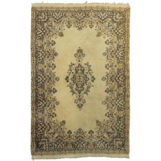 "Hand Knotted Wool Persian Kerman Rug - 5'9"" x 8'9"""