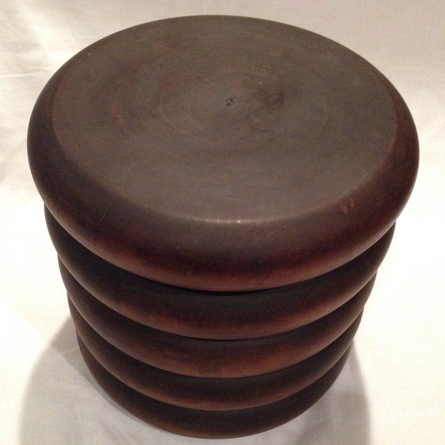 Image of Brown Five-Stack Mango Wood Stool