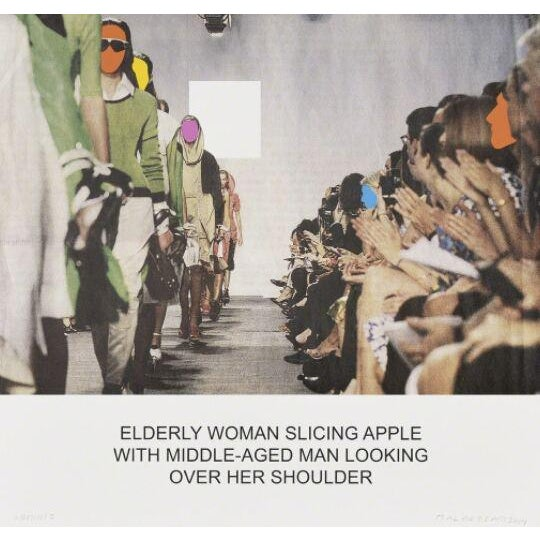 The News: Elderly Woman Slicing Apple... screen print by John Baldessari - Image 2 of 3
