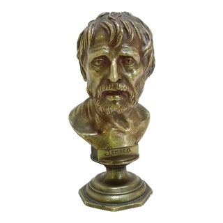 Small Bronze Bust of Seneca