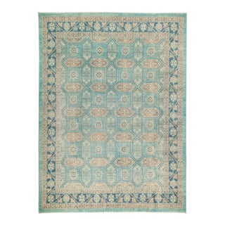 """Hand Knotted Blue Ziegler Area Rug - 9' 1"""" X 12' 2"""""""