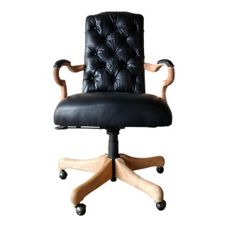 Black Lambskin Detroit Johnny Chair