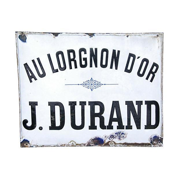 Large Antique French Porcelain & Enamel Sign - Image 4 of 4