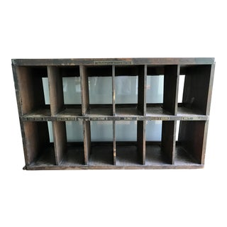 Vintage Pharmacy Display Cabinet Cubby