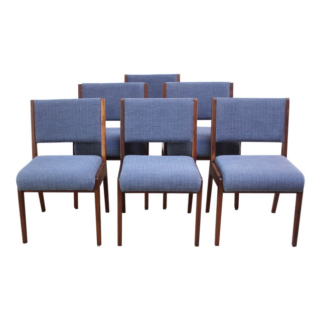 Set of Six Walnut Dining Chairs by Jens Risom - Image 1 of 11