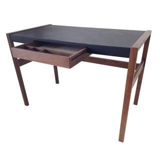 DWR Risom Walnut and Leather Desk