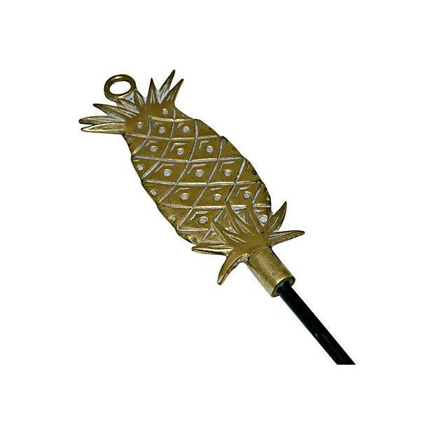 Image of Mid-Century Brass Pineapple Wall Hook