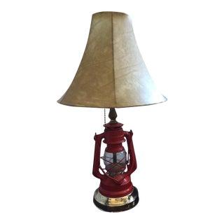 1960s Winged Wheel Lantern Lamp