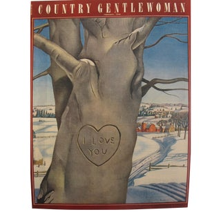 1946 Country Gentlewoman February Valentine's Day Edition, Original Magazine Cover