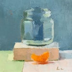 Image of Clementine Slice Original Oil Painting