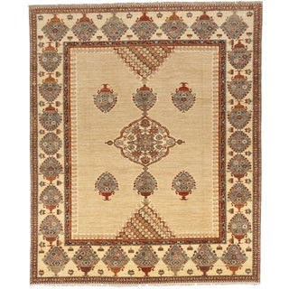 """Afghan Hand Knotted Rug - 8'x 9'10"""""""
