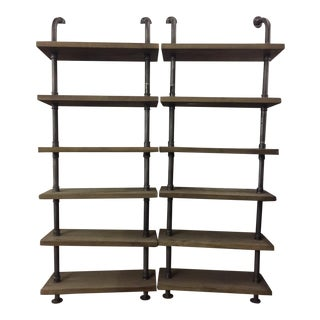 Restoration Hardware Industrial Pipe Book Shelves - A Pair
