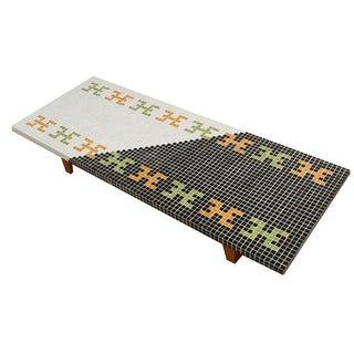 Huge Mid-Century Tile Mosaic Coffee Table
