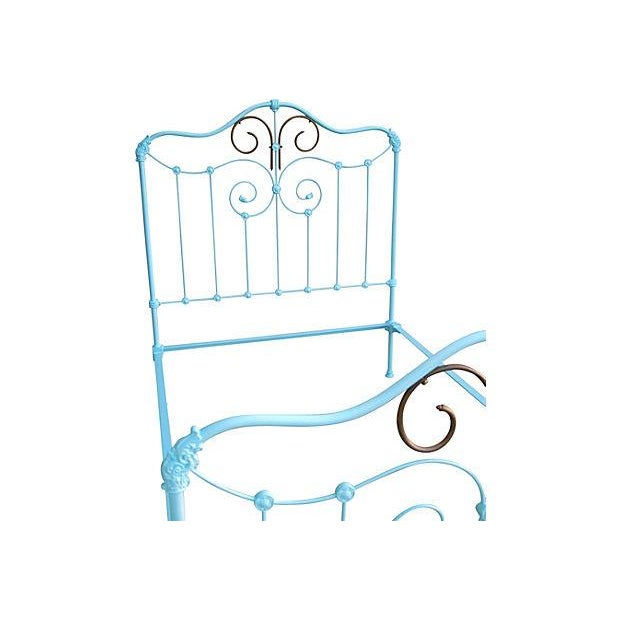 Antique Wrought Iron Bed Frame - A Full - Image 2 of 7