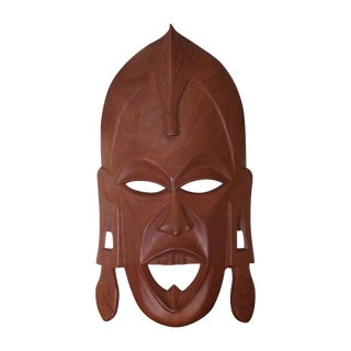 Vintage Wood Hand Carved African Tribal Mask