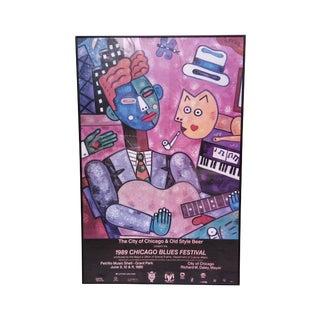 Grant Park 1989 Chicago Blues Festival Framed Pop Art Poster