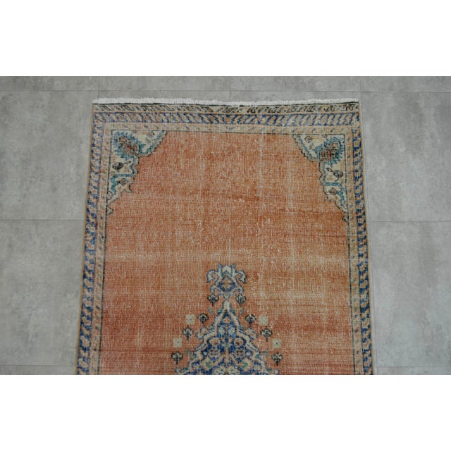 "Turkish Brown Overdyed Hand Knotted Rug - 3'4"" X 6'7"" - Image 6 of 9"