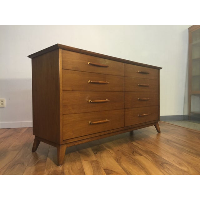 Heritage Henredon Mid Century Lowboy Dresser - Image 6 of 11