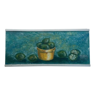"""1950's Still Life Painting """"Limes"""""""