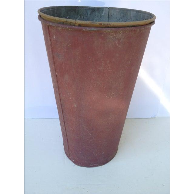 Image of Vintage Painted Sap Bucket