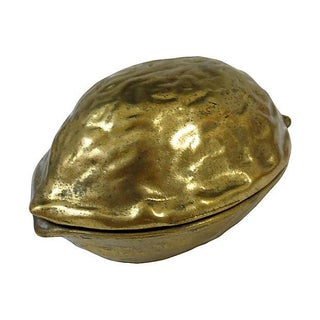 Brass Walnut-Shaped Nutcracker