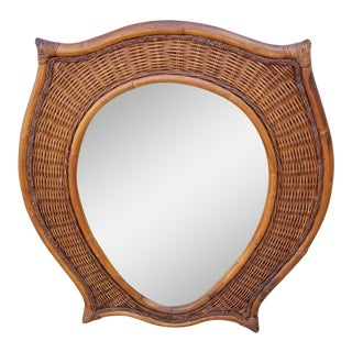 Vintage Bamboo Shield Mirror