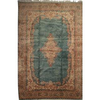 RugsinDallas Vintage Hand Knotted Wool Persian Kerman Rug - 12′ × 17′9″