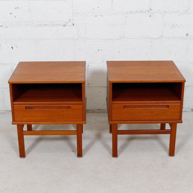 Torring Danish Modern Teak Nightstands/Side Tables - a Pair - Image 7 of 8