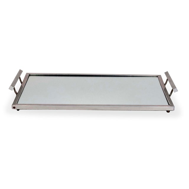 Image of French, 1930s Mirrored Serving Tray