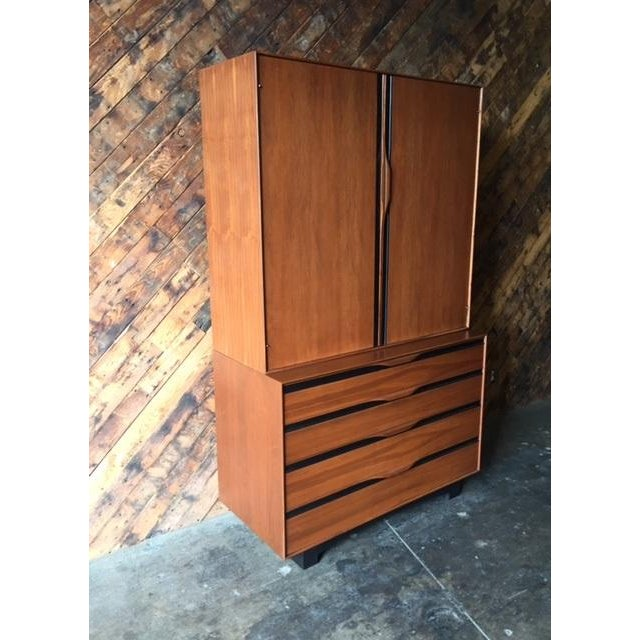 Image of John Kapel Mid-Century Walnut Armoire