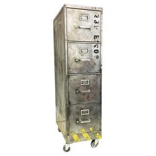 Industrial Brushed Metal File Cabinet