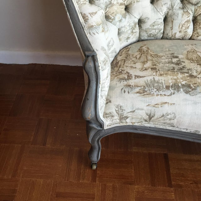 Victorian Reupholstered & Restored Walnut Settee - Image 3 of 8