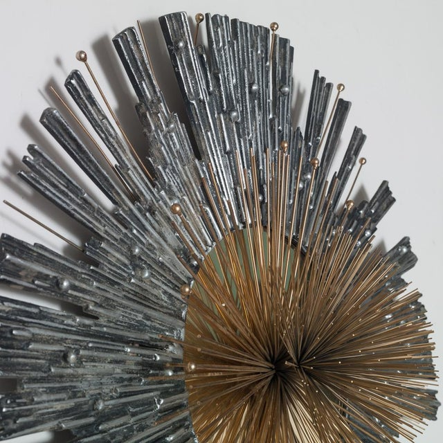 Rare Aluminium and Brass Curtis Jere Wall Sculpture - Image 3 of 4