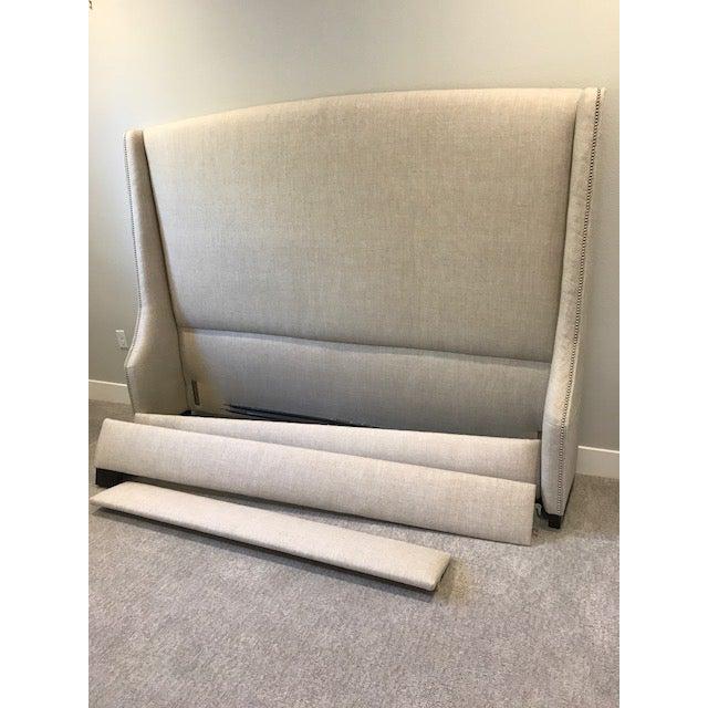 Restoration Hardware Warner Nailhead Upholstered King Bed - Image 3 of 3