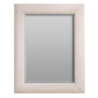 Sarreid LTD Virna White Wood Mirror