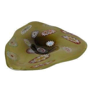 Mid-Century Modern Millefiori Murano Glass Bowl