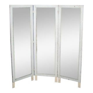 French Three-Panel Dressing Mirror / Screen