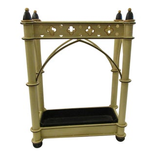 Yellow & Black Metal Umbrella Stand