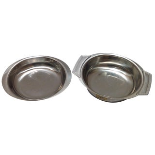 Swedish Stainless Steel Serving Dishes - A Pair
