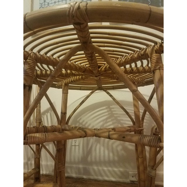 Vintage Franco Albini Rattan Table & Chairs - Image 4 of 11